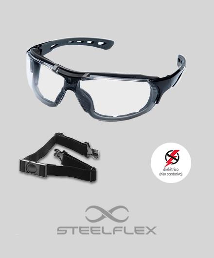 65a2a4c16ea8b Óculos   Steelflex Roma Lente Incolor - Granville Equipamentos de ...